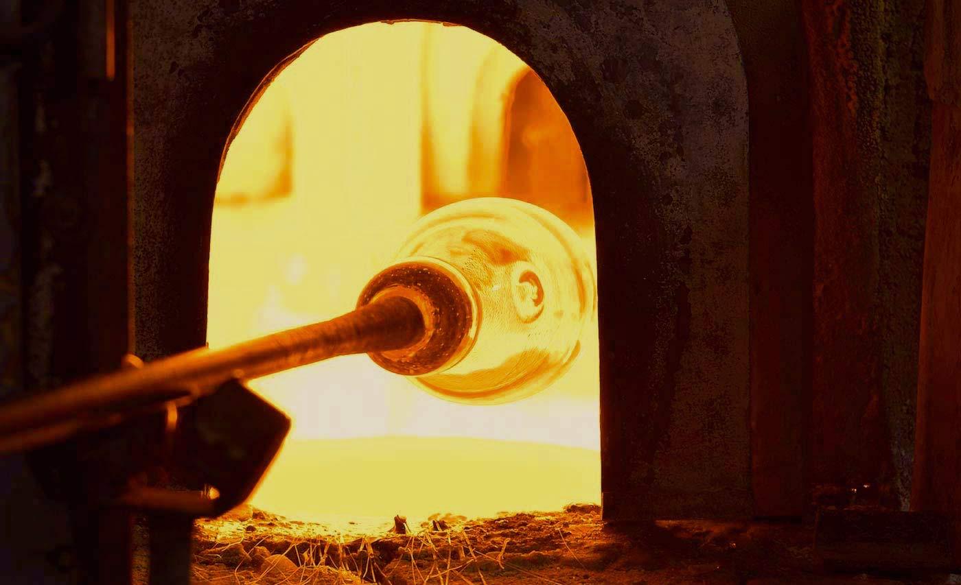 A Murano glass oven