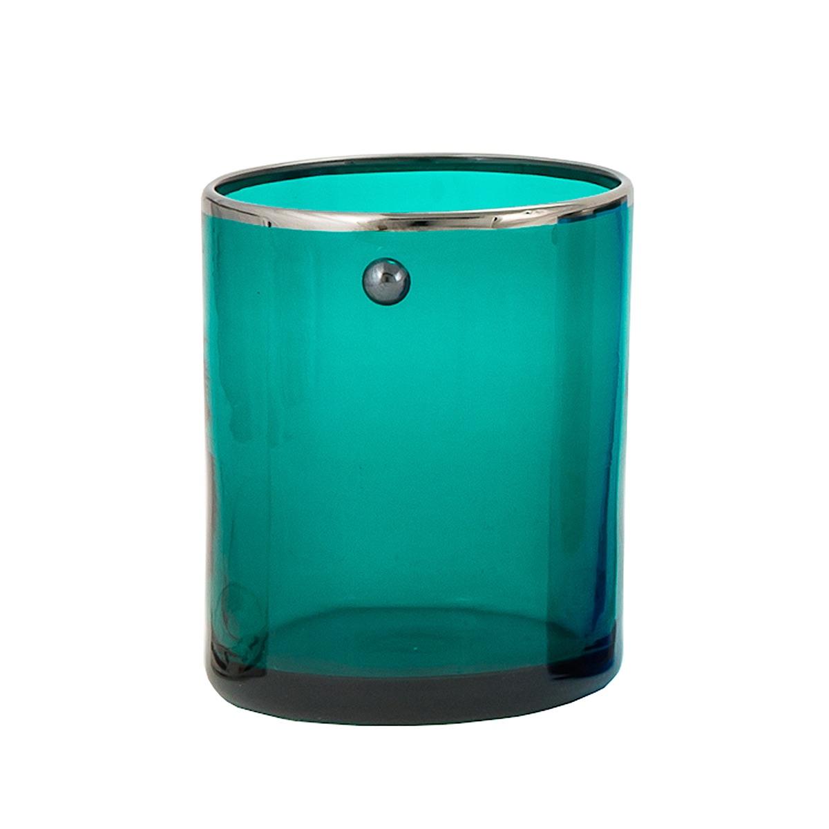 JAI-shot-glass-green-platinum-rim-murano-vodka-venice-handmade