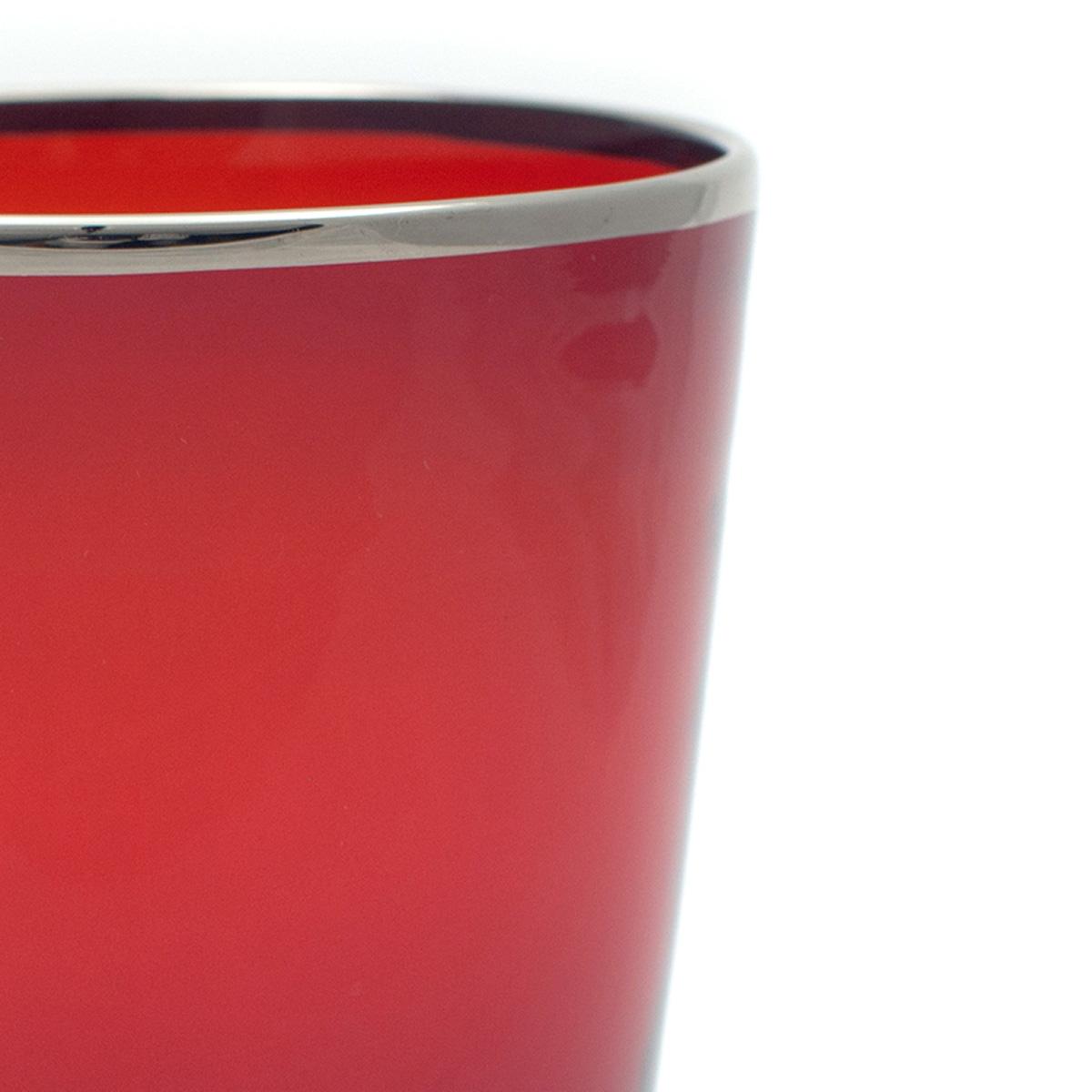 drink_vaso_glass_luxury_interior_design_murano_handmade_red_platinum_detail