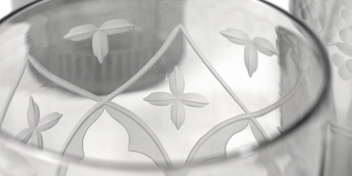 Palazzo Glassware Set engraving