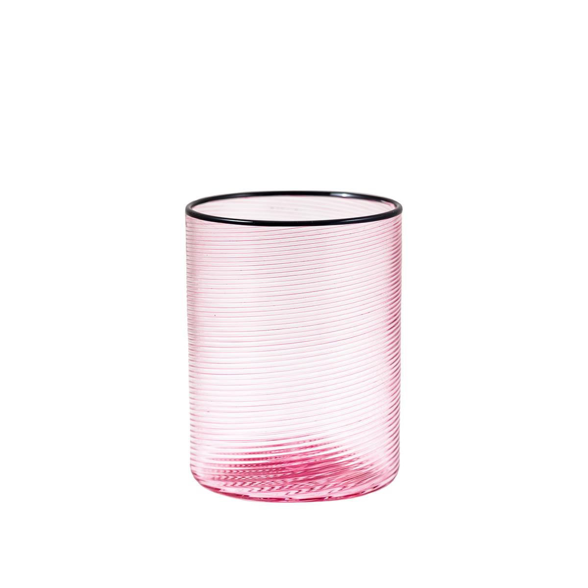 fizzy_glass_water_pink_murano_riga_mena_handmade_venice_black_rim_design