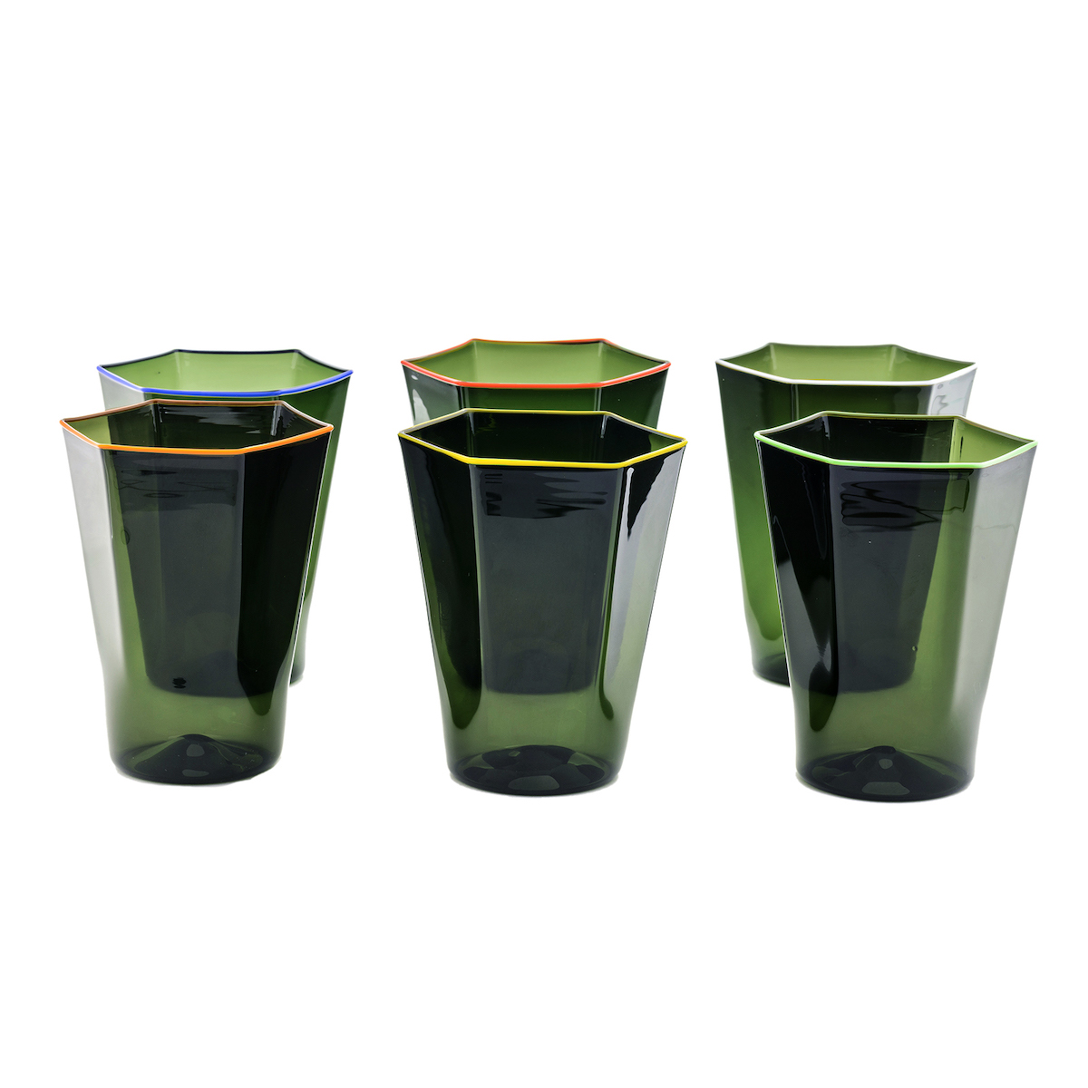 laguna-green-colorful-rim-murano-glasses-water-precious-fun-geometric-geometrical-exagonal
