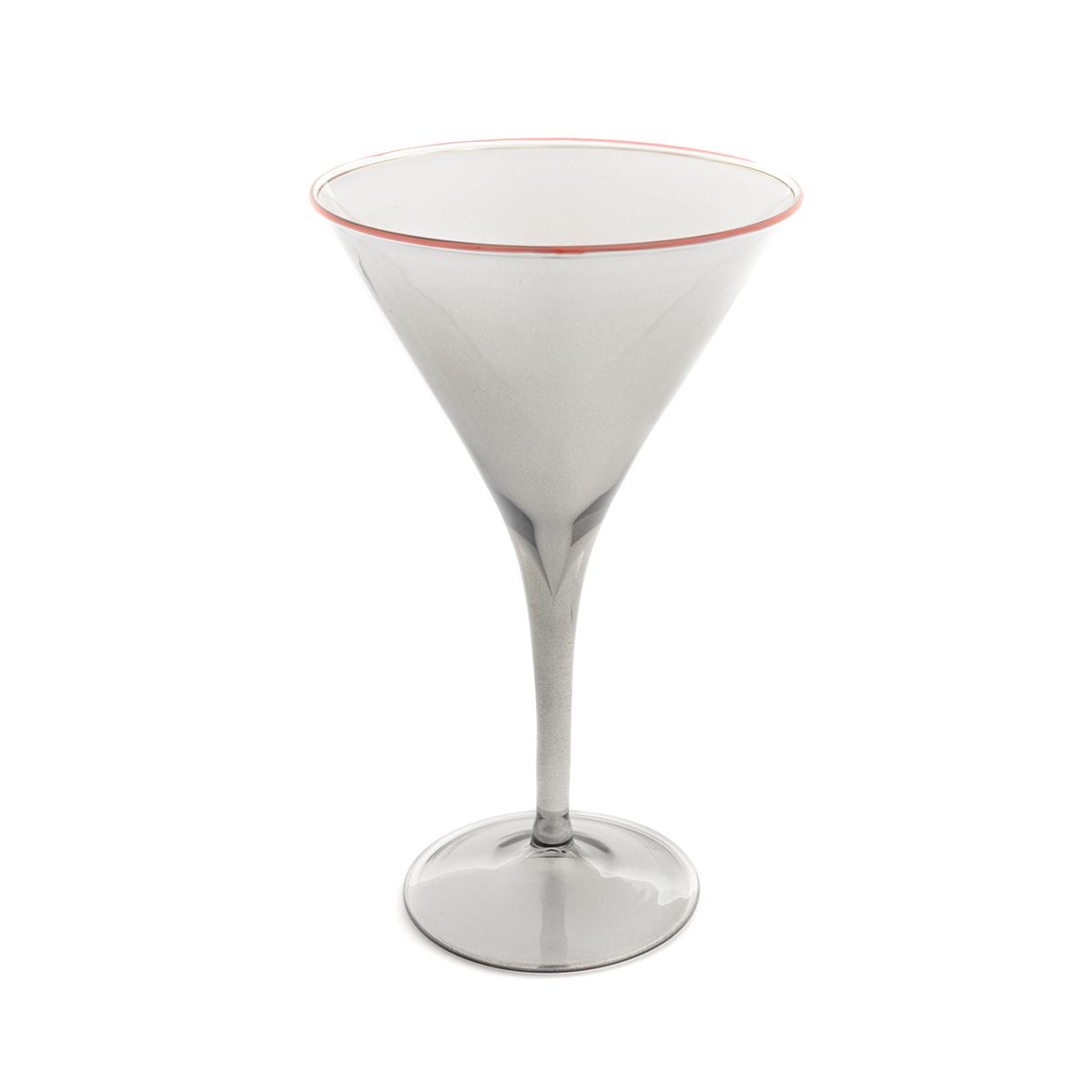 martini_fume_grey_red_rim_murano_design_drink_glass_giberto