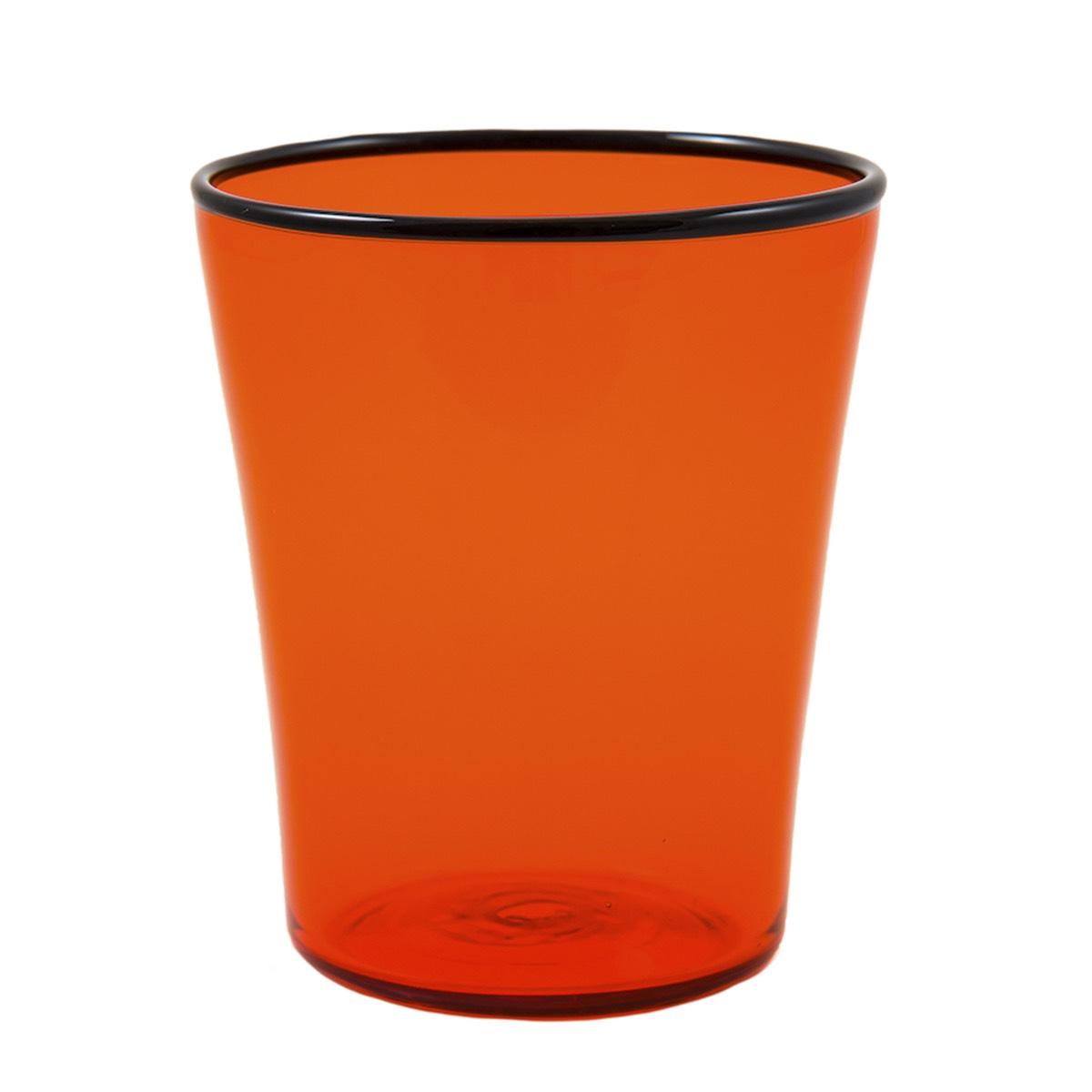 mascia-orange-glass-black-murano