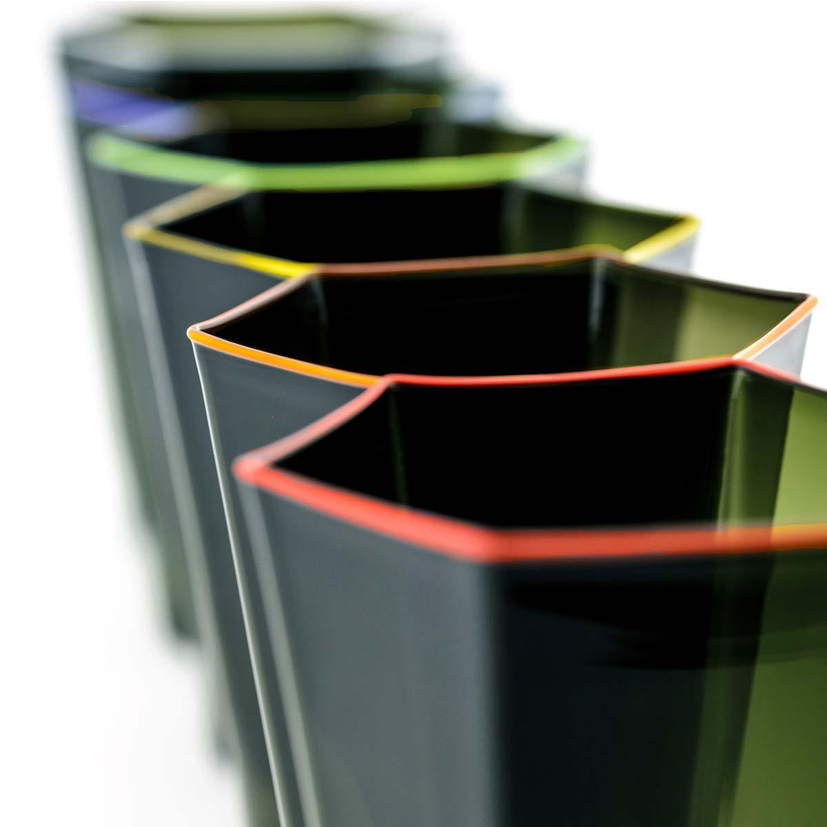 murano-venice-italian-deigner-glasses-glass-colorful-colourful-rim-green-orange-red-blue-green-yellow