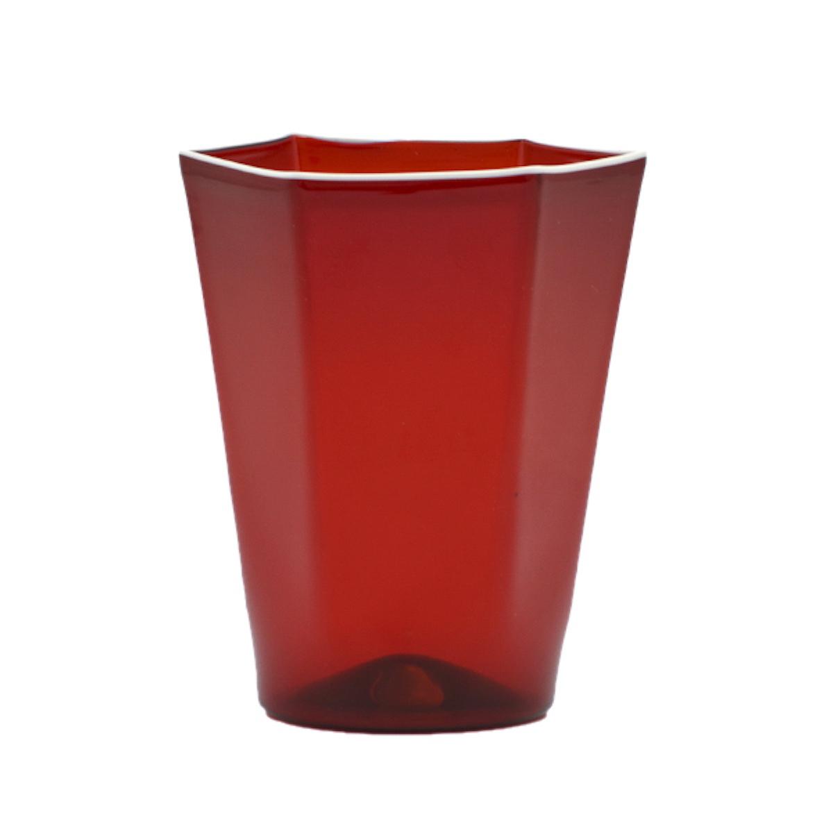 red-laguna-white-rim-designer-hexagonal