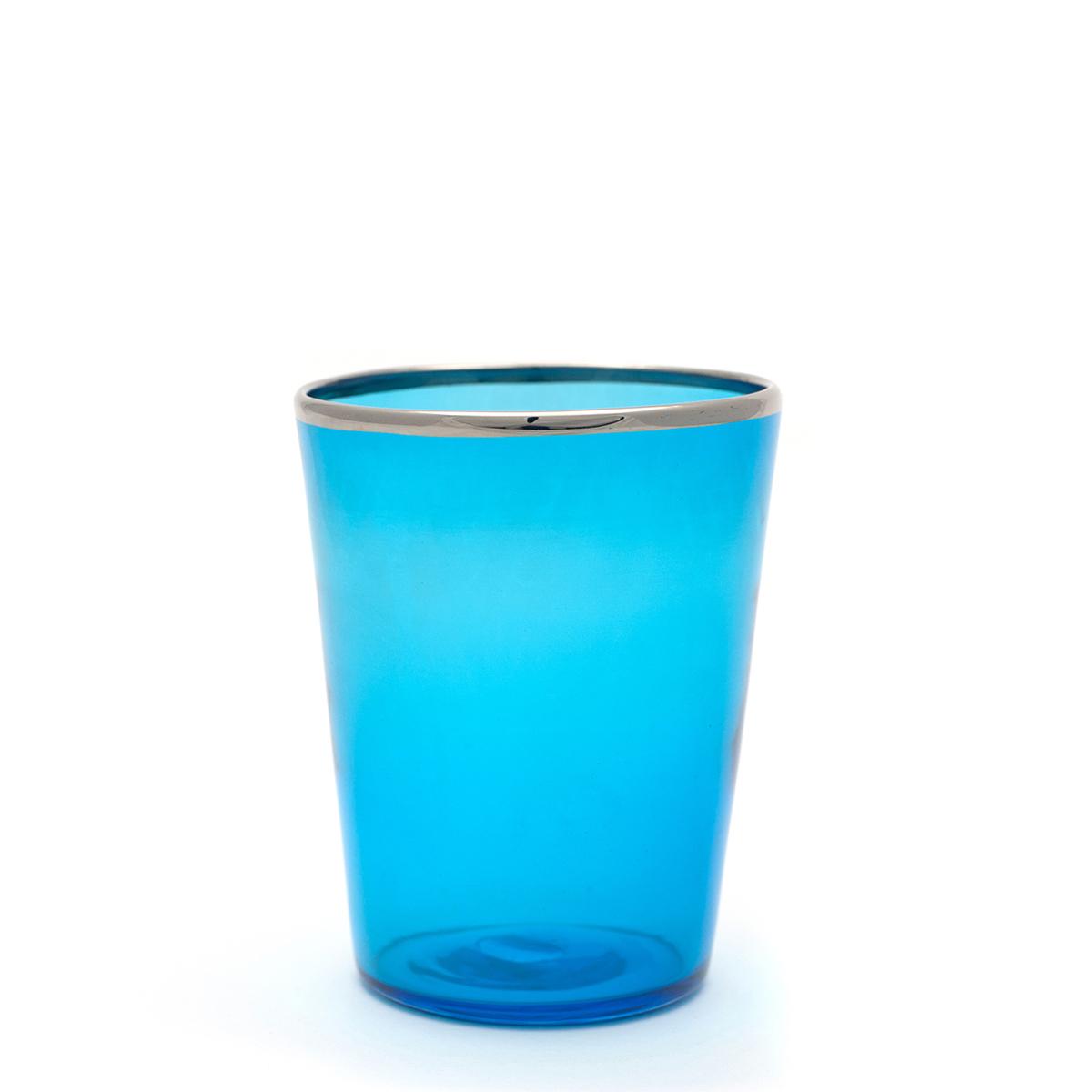 vaso_blue_acquamare_glass_murano_handmade_design_giberto_platinum_rim_wine