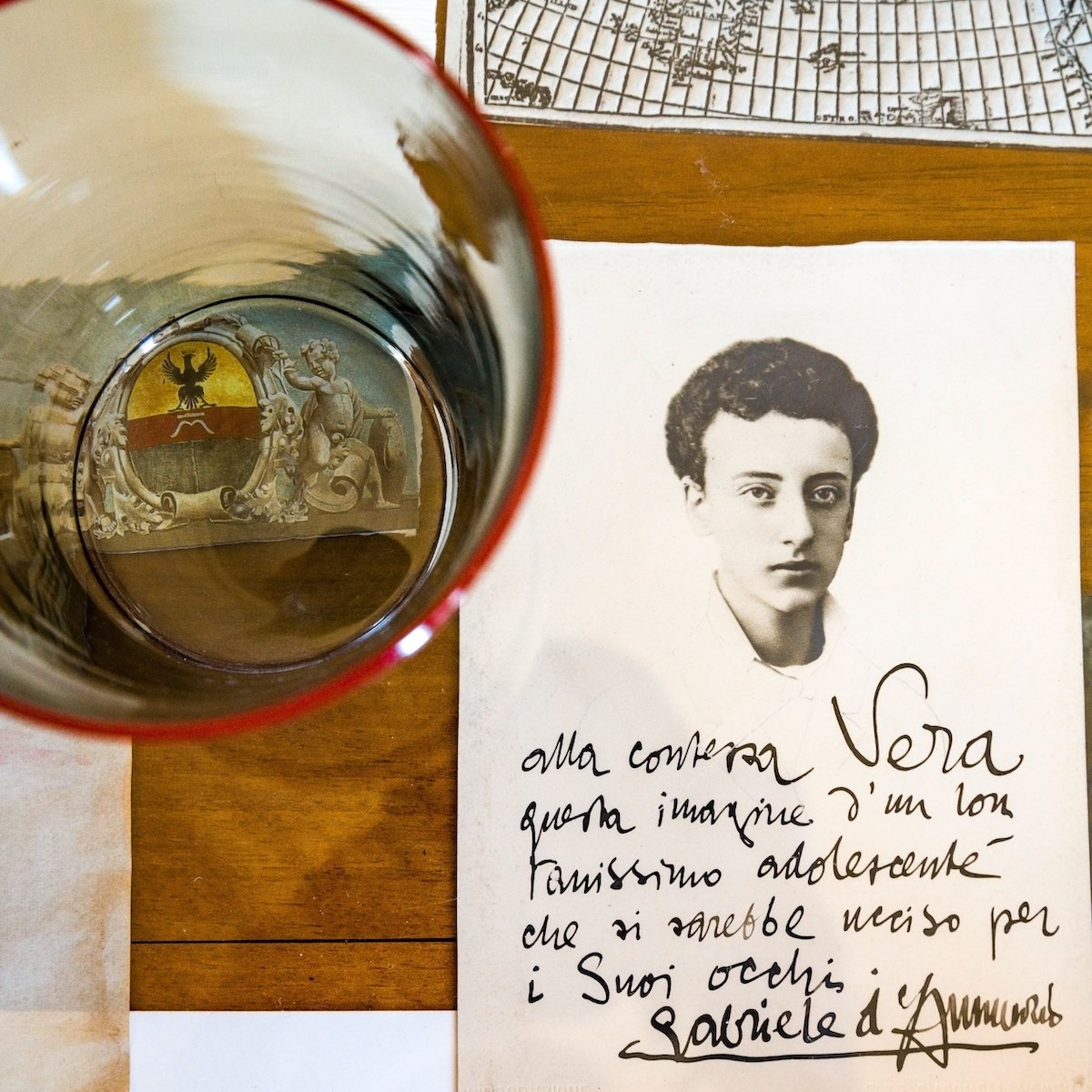vera-dannunzio-lettera-d'annunzio-d-annunzio-letter-papadopoli-arrivabene-vetro-murano-nobile